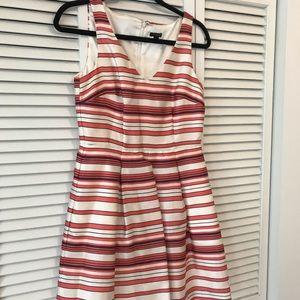 Ann Taylor Pink Striped Dress - Worn once!